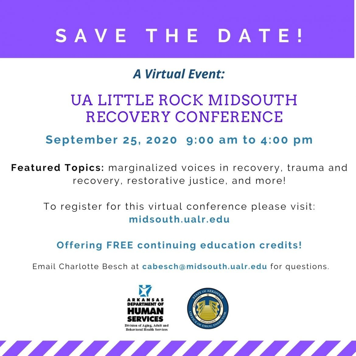 UA Little Rock Recovery Conference, September 25th